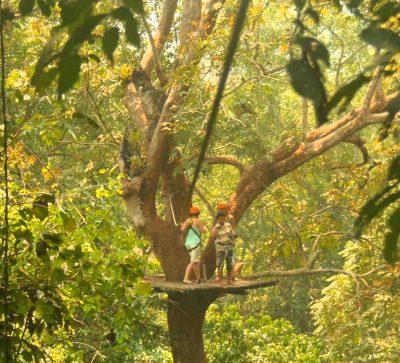 Singlereise Indochina - Ziplining im laotischen Dschungel