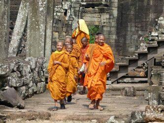Singlereise Indochina - Mönche in Kambodscha