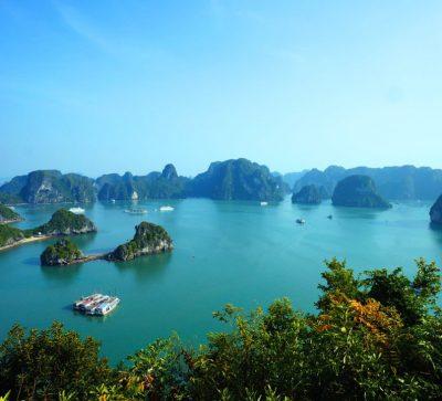 Singlereise Indochina - Halong Bucht von oben