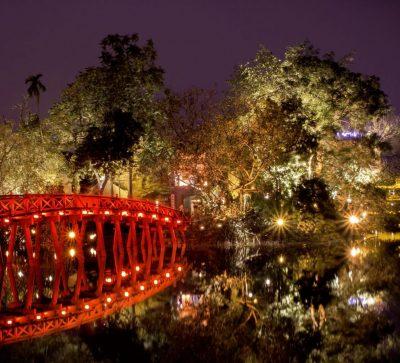 Singlereise Indochina - Thue Huc Brücke Ha Noi