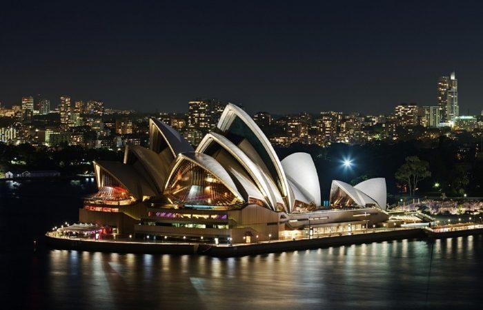 Singlereise Australien - Opernhaus bei Nacht