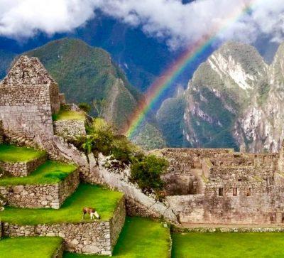 Singlereise Peru - Machu Picchu mit Regenbogen
