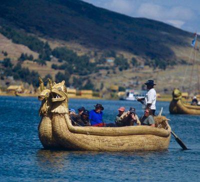 Singlereise Peru - Schilfboot Titicacasee