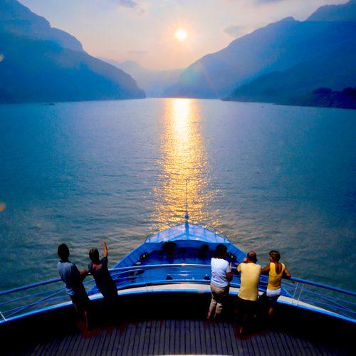Große Singlereise China - Sonnenuntergang Yangtze